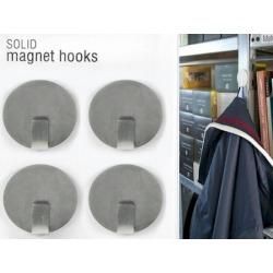 Magneet haak super sterk zilver (per 4)