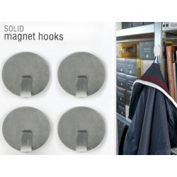 Magnet hook super strong silver (per 4)Magnet Hook and Clip