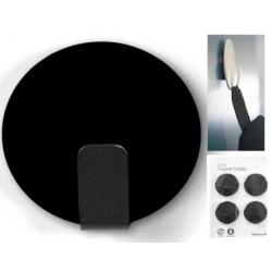 Magneet haak super sterk zwart (per 4)