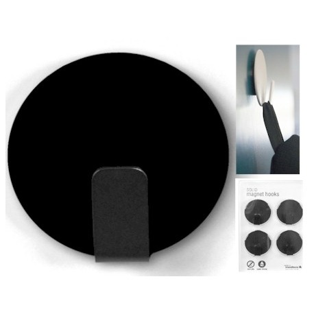 Magnet hook super strong black (per 4)Magnet Hook and Clip
