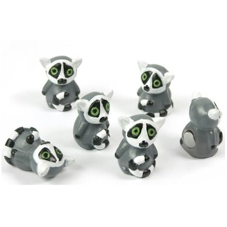 Mini fridge magnets LemurAnimal Magnets
