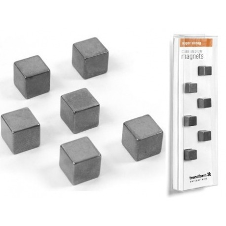 Super strong cube magnets medium set of 6Super Strong Magnets