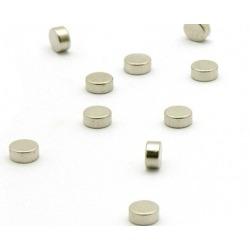 Super sterke mini magneetjes plat zilver (set van 10)