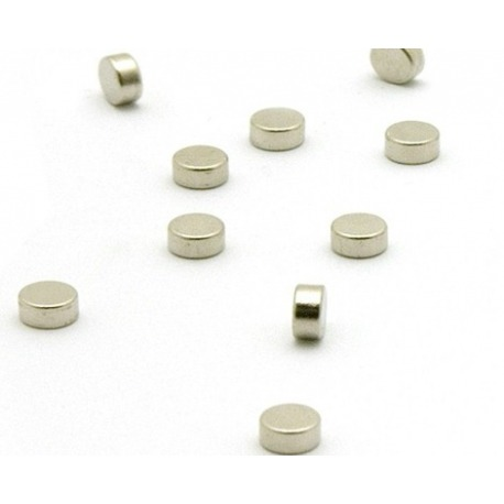 Super sterke mini magneetjes plat zilver (set van 10)Super Sterke Magneetjes