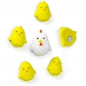 Mini fridge magnets chicken