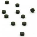 Super sterke mini magneetjes plat zwart (set van 10)