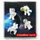 Mini fridge magnets Astronaut / spaceMiscellaneous Magnets