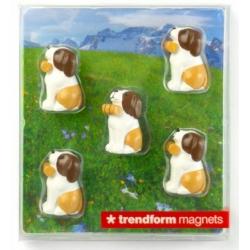 Mini fridge magnets Sint-bernard BarryAnimal Magnets