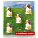 Mini magneetjes  Sint-bernard Barry